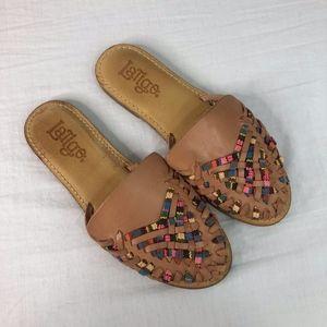 Latigo Hurrache Slides Sandals Sz 8.5 Boho Chic